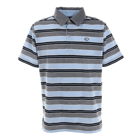 ゴルフ ポロシャツ ストライプ ポロシャツ FD5KTG03 NVY
