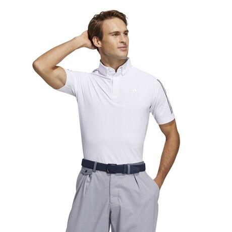 スリーブストライプス 半袖ストレッチボタンダウンシャツ 23293-GM3610 W