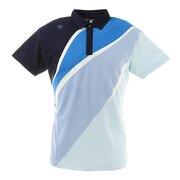 ポリエステル鹿の子UMIプリントシャツ DGMRJA12-BL00