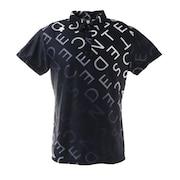 総柄グラデーションプリント 半袖ポロシャツ DGMRJA33-NV00