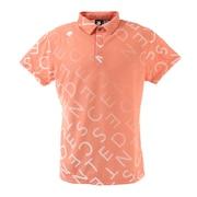 総柄グラデーションプリント 半袖ポロシャツ DGMRJA33-OR00