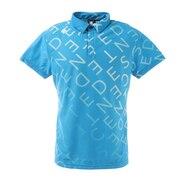 総柄グラデーションプリント 半袖ポロシャツ DGMRJA33-SA00
