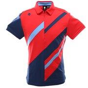 ゴルフ シャツ メンズ ライジングデザイン ショートスリーブシャツ DGMPJA09-RD00