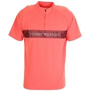 ゴルフ ポロシャツ メンズ ロゴ ハーフ ジップシャツ THMA031-ORG