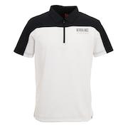 ストレッチパイナップルピケ 半袖 カラーシャツ 012-1168012-030