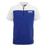 ストレッチパイナップルピケ 半袖 カラーシャツ 012-1168012-113