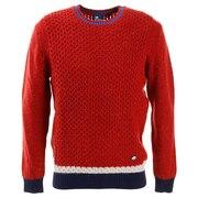 ゴルフ セーター メンズ メンズ ネップセーター FI38TJ04 RED