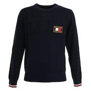 ジャカードクルーネックセーター THMA074-NVY