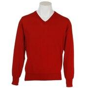 ゴルフウェア メンズ 撥水Vネックセーター PGMFT1803 RED