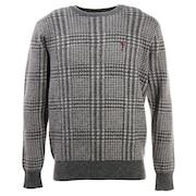 ゴルフ セーター メンズ アルパカチェックセーター FV38VJ05 GRY