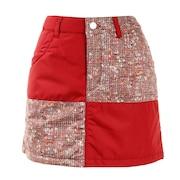 ゴルフウエア レディース ツイード切替えスカート 012-71141-064