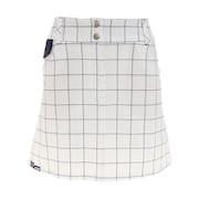ゴルフ グログランハイパーストレッチ チェック柄 スカート 750308-WT
