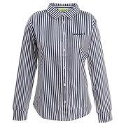 ゴルフウェア ポロシャツ レディース ストライプ長袖シャツ 012-21914-098