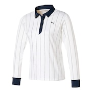 ゴルフ ストライプ 長袖 ポロシャツ 930394-03