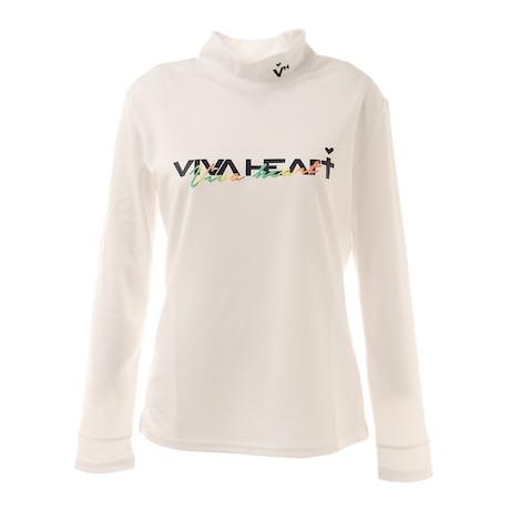 UVカット 配色 カノコ長袖モックネックシャツ 012-24211-005