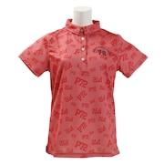 ゴルフウェア レディース プリントポロシャツ PA51UG01 PNK