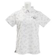 ゴルフウェア プリントポロシャツ PA51UG01 WHT