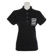 ミニ衿鹿の子半袖ポロシャツ FDA0707-NVY