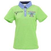 ゴルフウェア レディース ボルドーアイコン半袖ポロシャツ CL57UG23 GRN