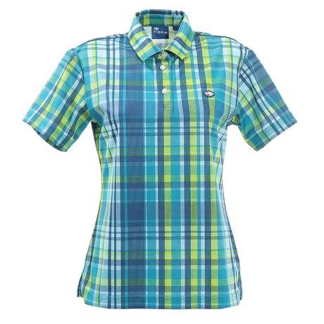ゴルフ ポロシャツ レディース マドラスチェックポロシャツ FD5HUG06 GRN