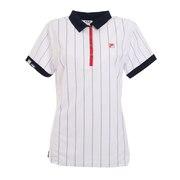 ゴルフ ストライプ柄 半袖シャツ 750606-WT