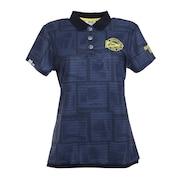 ゴルフ リゾートフォト柄 半袖シャツ 750610-NV