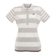 ゴルフ ボーダー柄 軽量ニット 半袖ポロシャツ 750613-GY