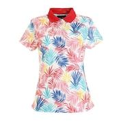 笹プリント 襟付き半袖ポロシャツ 241-0134819-101