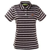 ゴルフウエア ポロシャツ レディース ロゴボーダーポロシャツ 012-22342-019