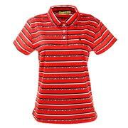ゴルフウエア ポロシャツ レディース ロゴボーダーポロシャツ 012-22342-063