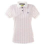 ゴルフウエア ポロシャツ レディース スクエアドット半袖ポロシャツ 012-22440-005