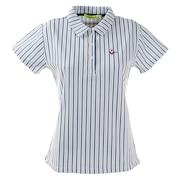 ゴルフウエア ポロシャツ レディース ストライプポロシャツ 012-22445-098