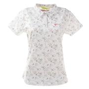 ゴルフウエア ポロシャツ レディース TOM&JERRYコラボ 総柄プリントポロシャツ 015-22442-005