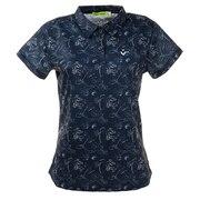 ゴルフウエア ポロシャツ レディース TOM&JERRYコラボ 総柄プリントポロシャツ 015-22442-098