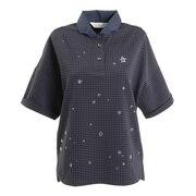 サッカージャカードスプラッシュラメプリント半袖シャツ MGWPJA22-NV00