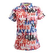 ロゴ×スローガンプリント カノコ半袖ポロ 012-23843-005