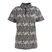 グランプラージュプリントハイネックシャツ 152-24441-019