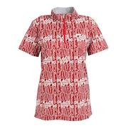 グランプラージュプリントハイネックシャツ 152-24441-063