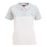 シアサッカーメッシュ 半袖 カラーシャツ 012-1168502-021