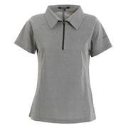 ゴルフウェア レディース 鹿の子ハーフジップシャツ EN37HG10 MBK