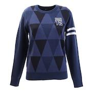 ゴルフウエア レディース ポップJQニットシャツ PA5GUJ01 NVY