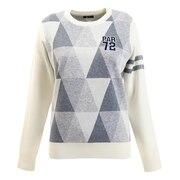 ゴルフウエア レディース ポップJQニットシャツ PA5GUJ01 WHT