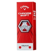 ボール クロムソフト CHROME SOFT  トゥルービス レッド 3個入り