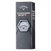 CHROME SOFT X ゴルフボール ホワイト 3個入り