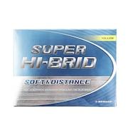 ゴルフボール  スーパーハイブリッド SUPER HI-BRID イエロー 1ダース(12個)