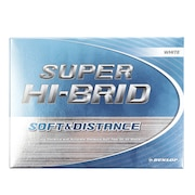 10ダースセット ゴルフボール スーパーハイブリッド ホワイト 1ダース(12球) 送料無料