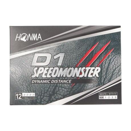 ゴルフボール D1 スピードモンスター SPEED MONSTER BT2003 WH 1ダース(12個)