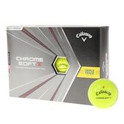 CHROME SOFT X ゴルフボール トリプル・トラック イエロー 1ダース(12球入り)