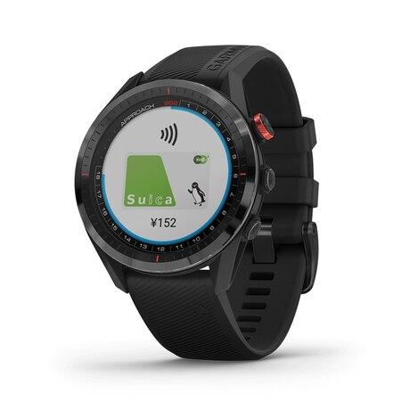 ゴルフナビ 腕時計型 距離測定器 アプローチS62 Black 010-02200-20