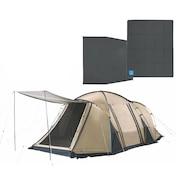 送料無料(対象外地域有) テント 大型 4人 DURA W ROOM+ 2ルームテント スターターセット テント+マット+グランドシート3点セット